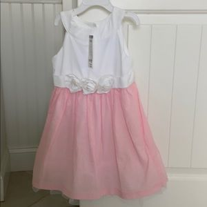 Gymboree pink and white Easter dress 3t new